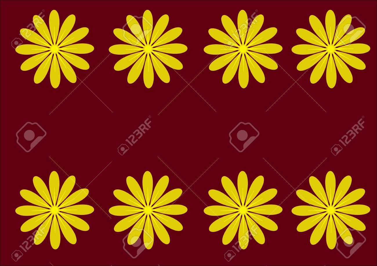 Beautiful Romantic Flowers Vector Illustration Sunflowers Against