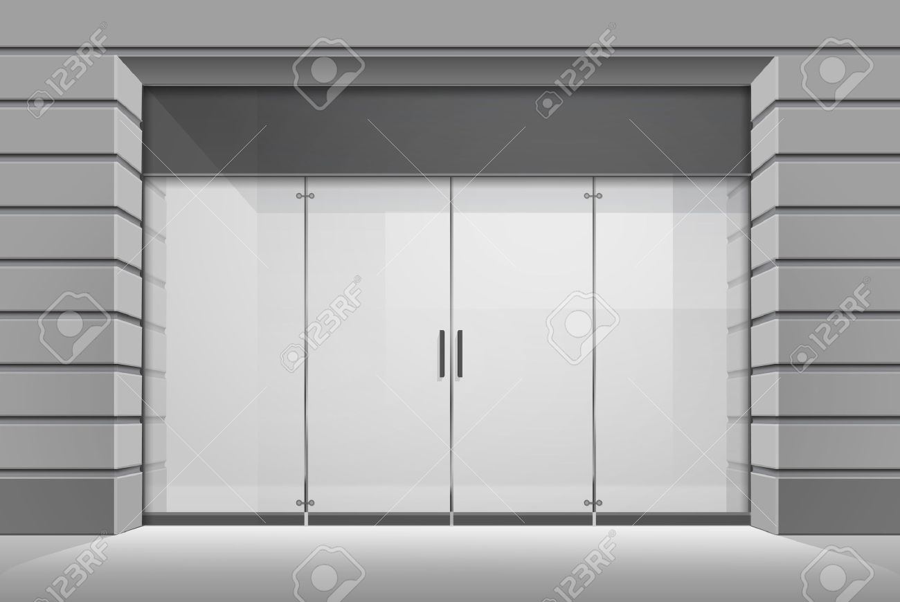 Glass door ups store - Door Glass Store Vector Vector Shop Boutique Store Front With Big Window