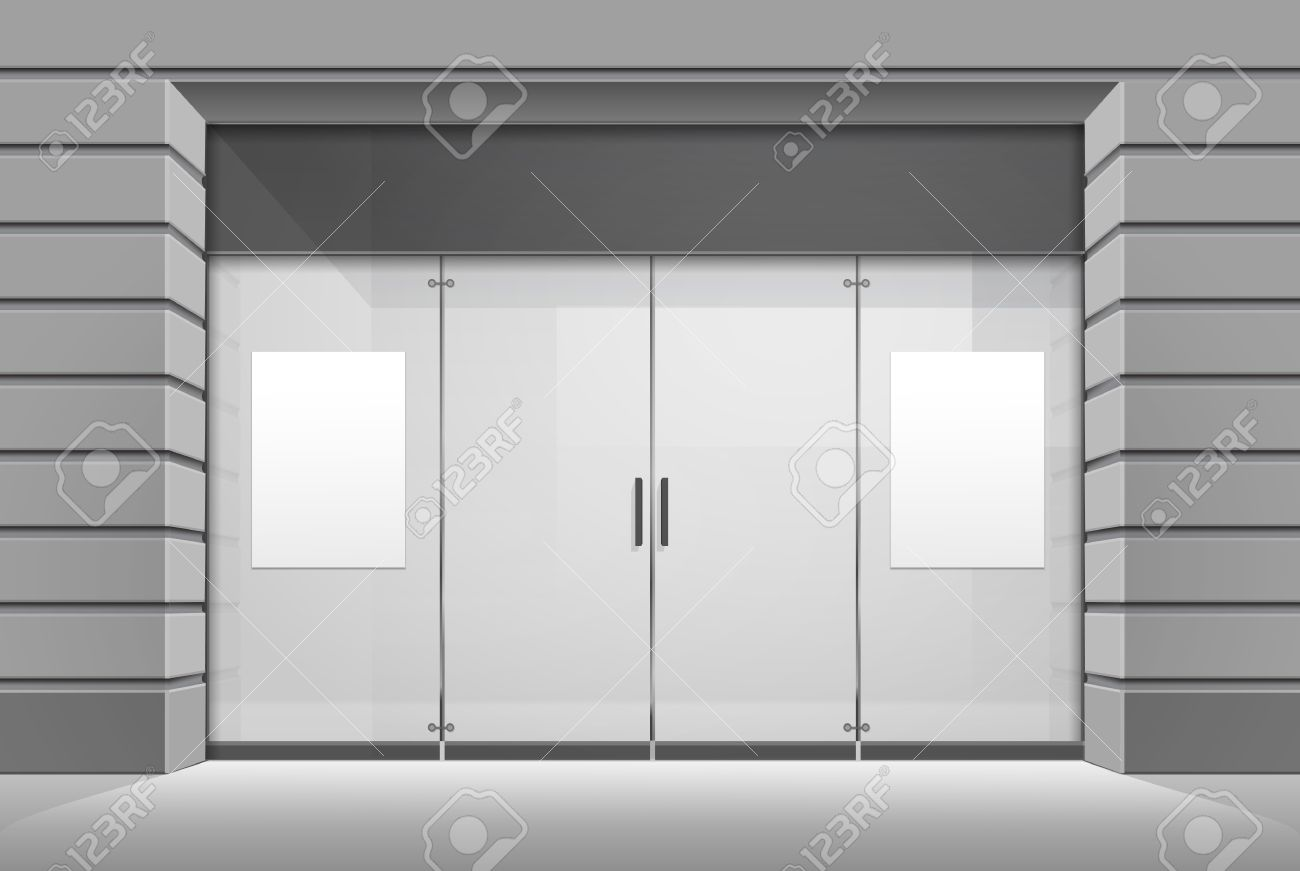 Glass door stock photos royalty free business images shop boutique store front with window planetlyrics Images