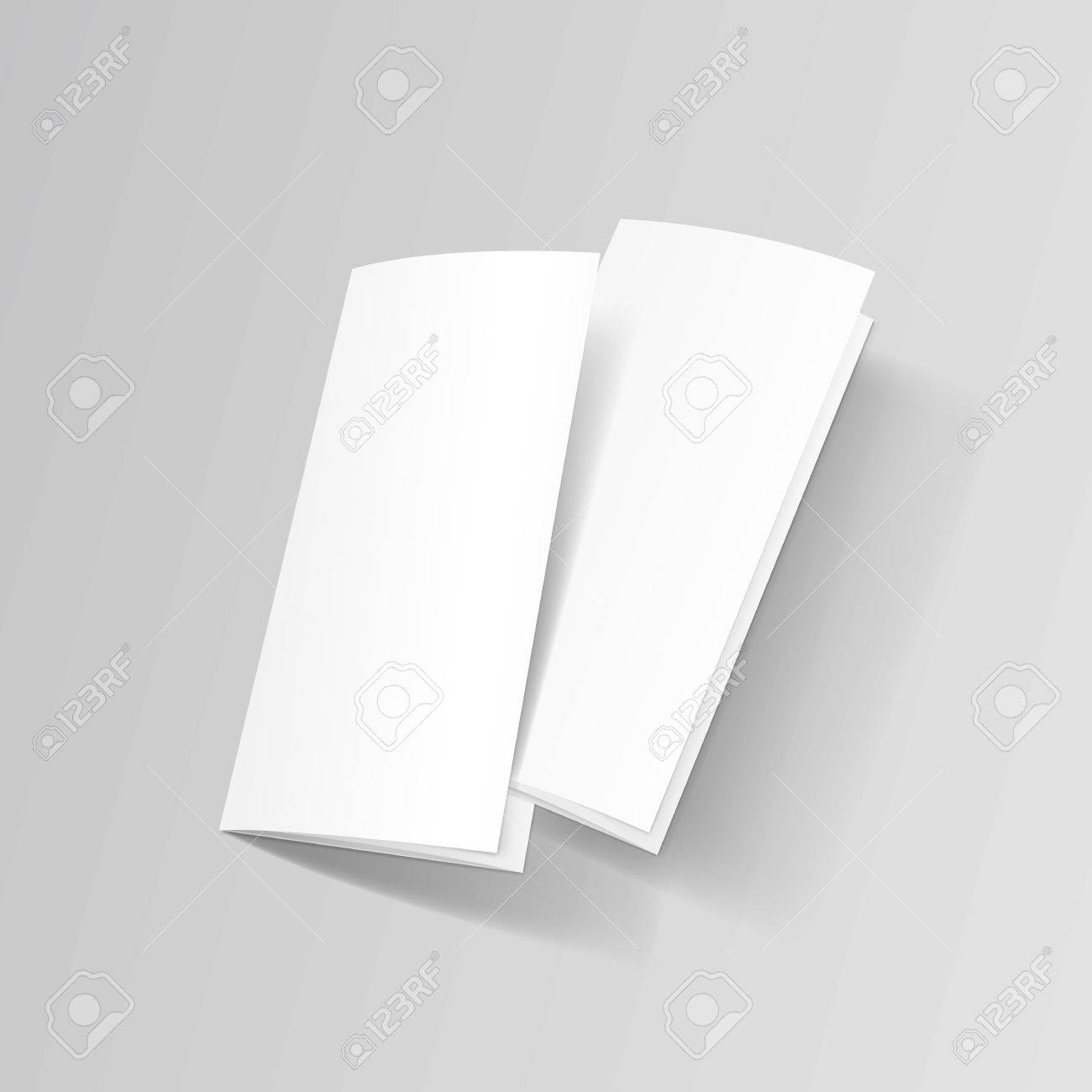 white trifold brochure leaflet zigzag folded flyer royalty free
