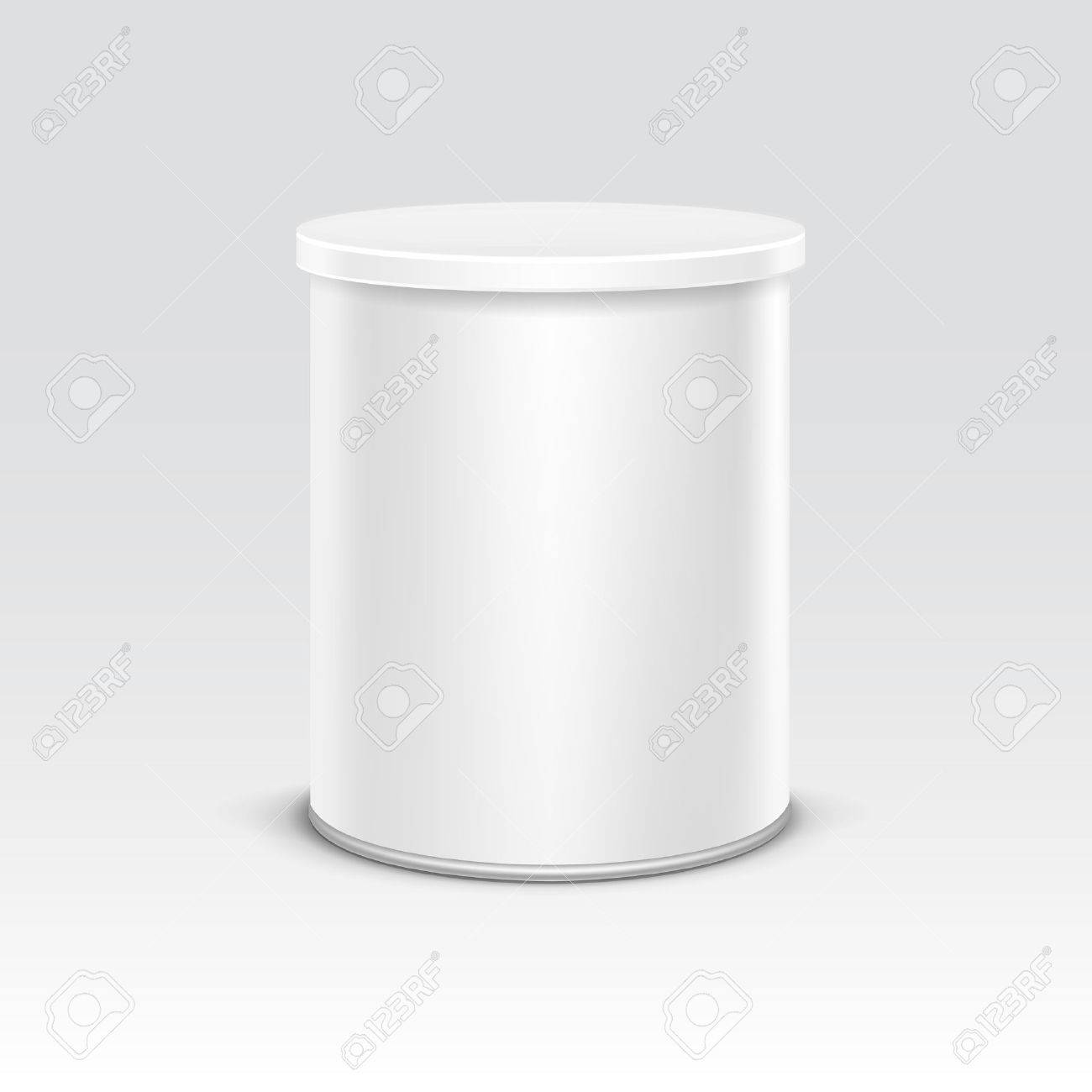 White tin box packaging container for tea or coffee isolated vector illustration - 43970067