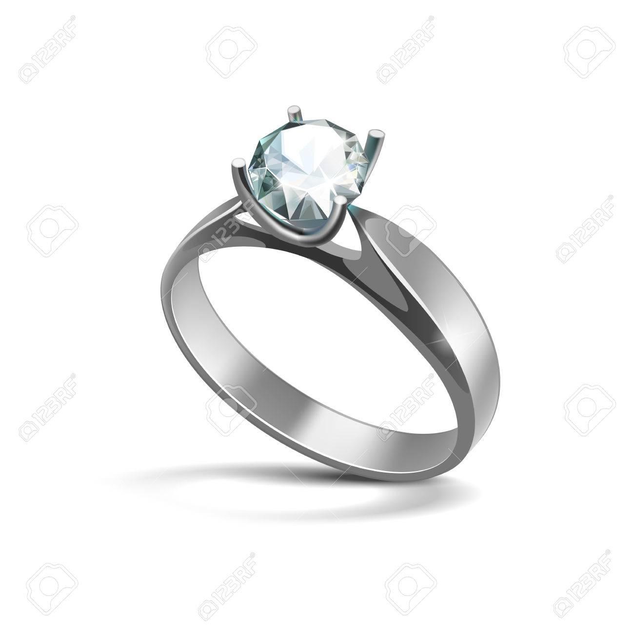 bague argent avec diamant