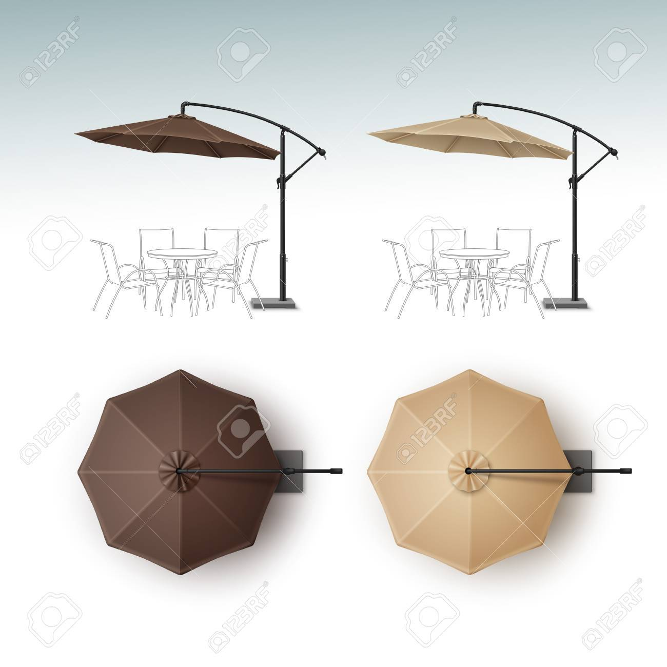Vector Set Of Brown Beige Blank Patio Outdoor Beach Cafe Bar Royalty Free Cliparts Vectors And Stock Illustration Image 63524940
