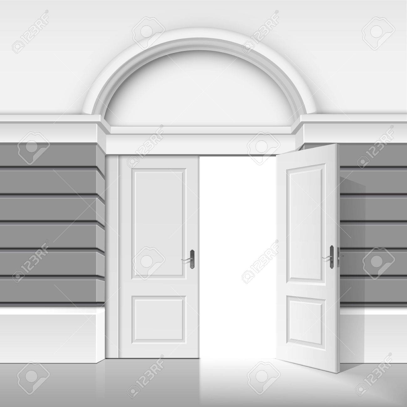 open front door illustration. Brilliant Open Vector  Classic Shop Museum Boutique Building Store Front With Open  Door And Place For Name Isolated On White Background On Illustration I