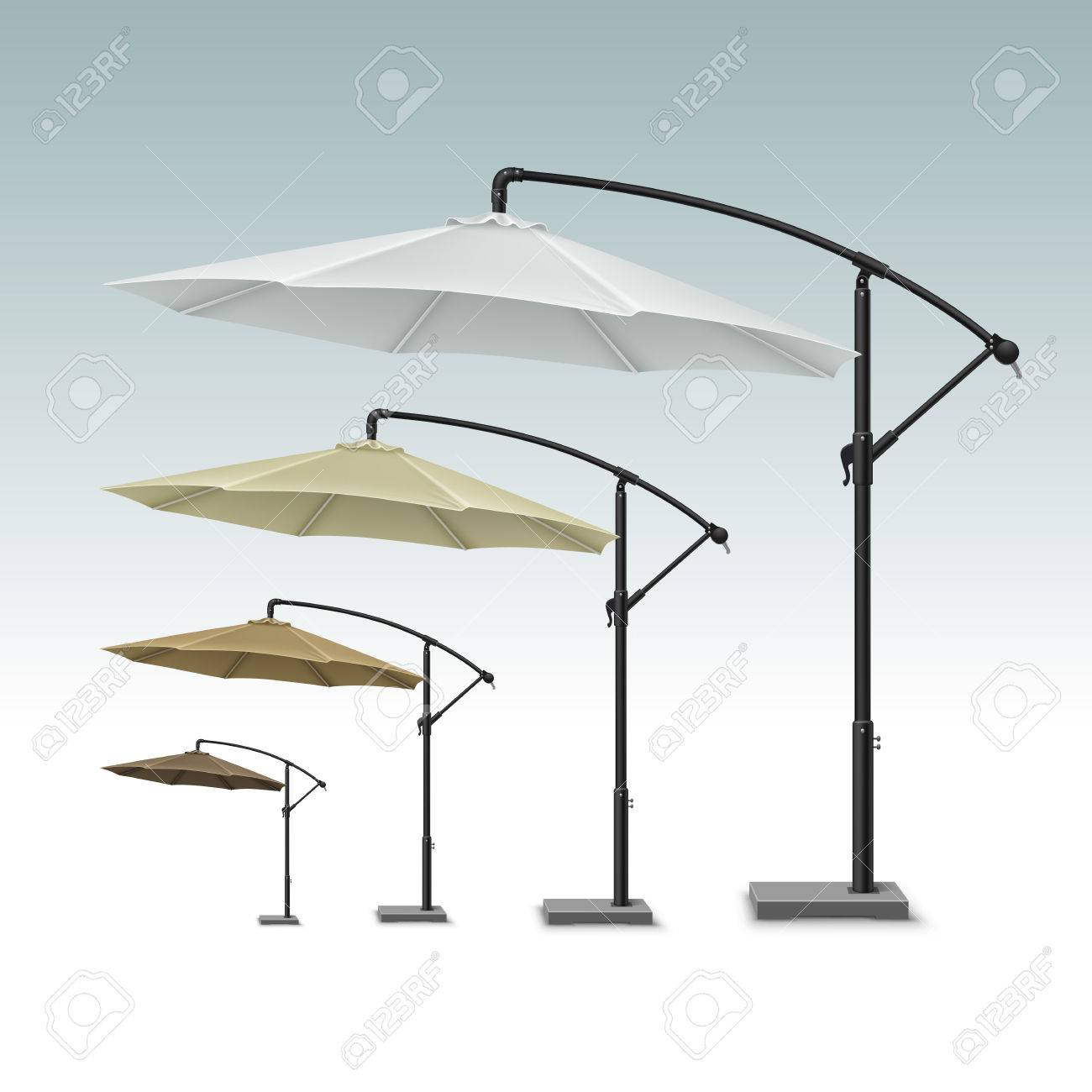 Blank Patio Outdoor Beach Cafe Lounge Restaurant Round Umbrella Royalty Free Cliparts Vectors And Stock Illustration Image 68932604