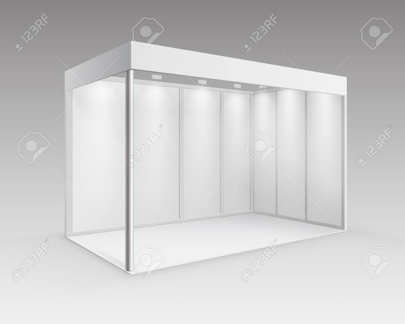 Exhibition Booth Blank : Blank booth exhibition stock photo thinkstock