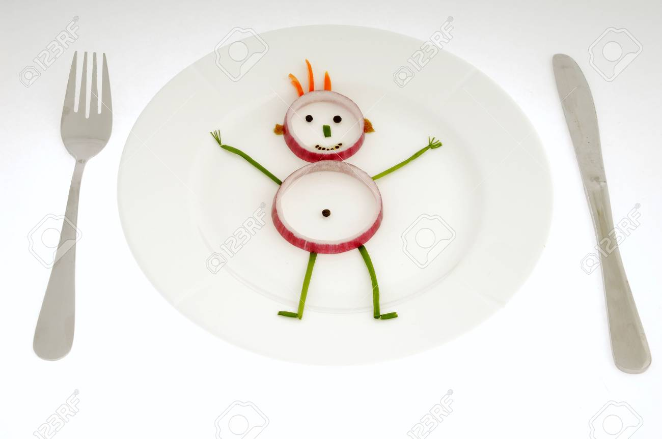 Man made of vegetables on a dish. Stock Photo - 871242