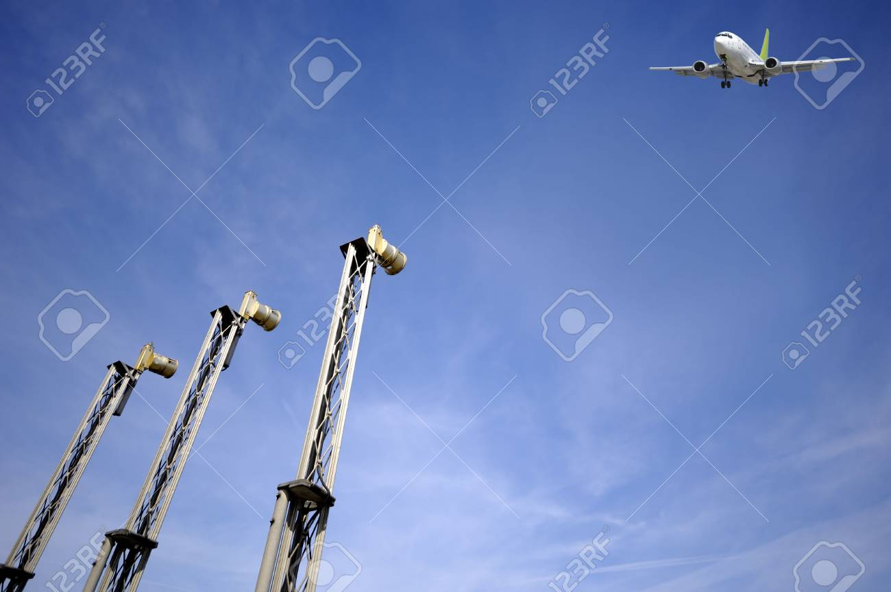 Plane is just going to land in airport. Stock Photo - 2942042