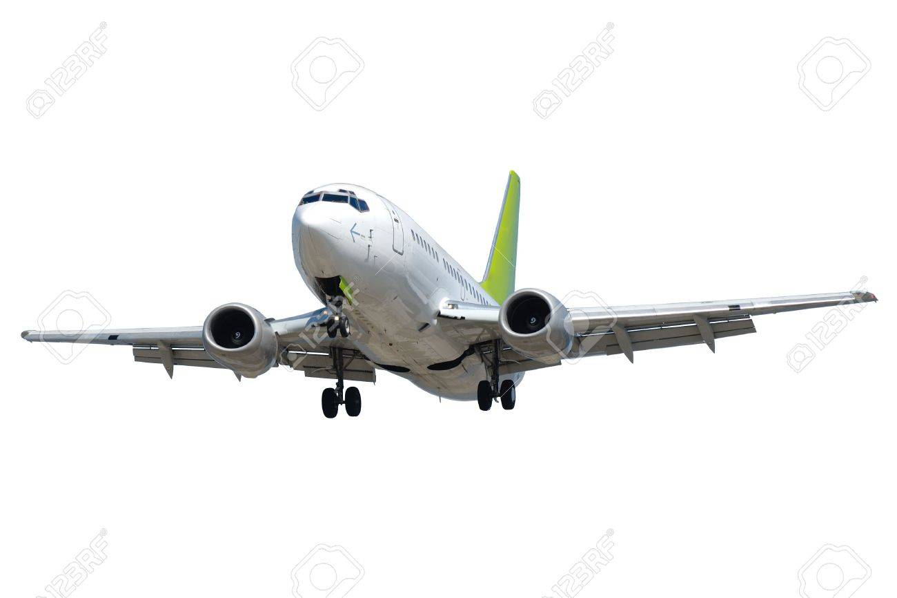 Plane isolated on a clean white background. Stock Photo - 3507636