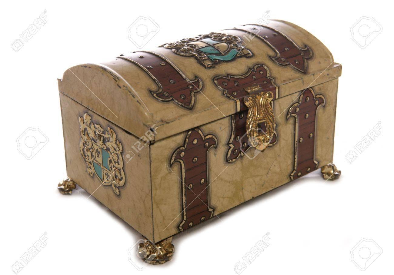 Old treasure chest studio cutout Stock Photo - 8072605