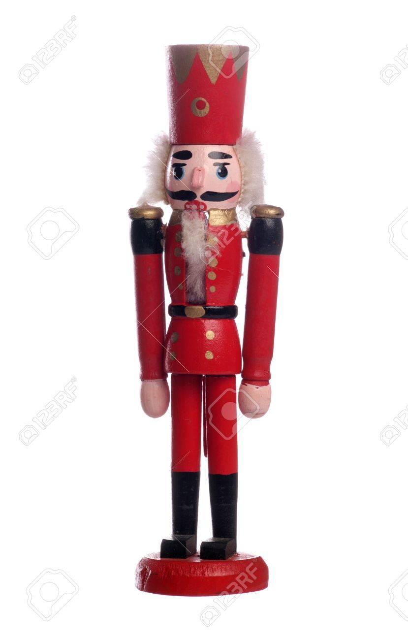 Nutcracker Christmas Decoration Studio Cutout Stock Photo, Picture ...