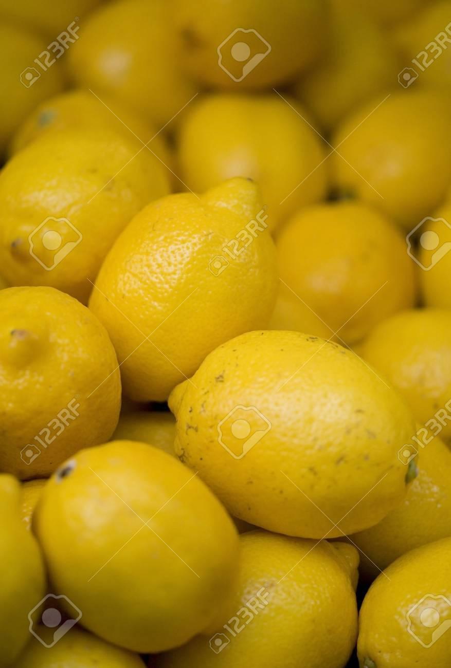 Lemons on a market stool Stock Photo - 10673410