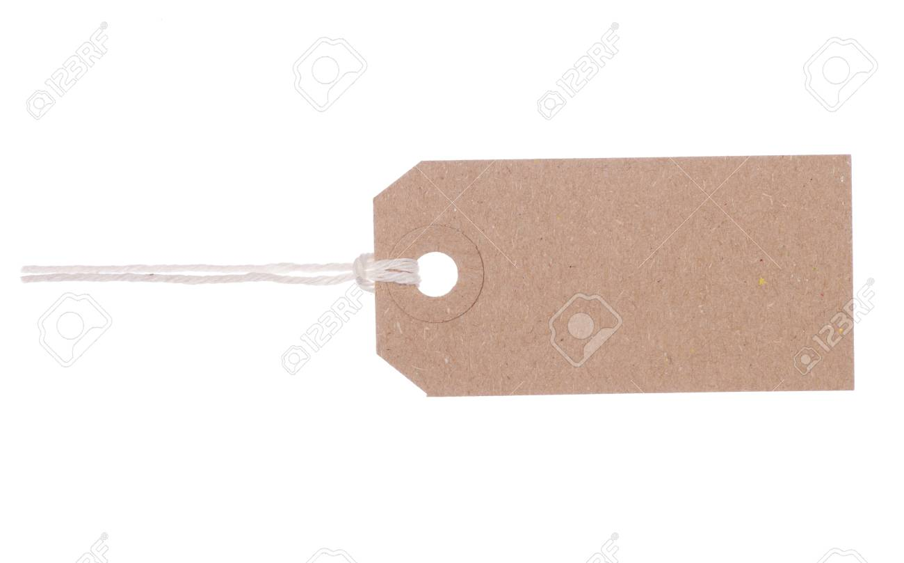 brown gift tag label studio cutout stock photo picture and royalty