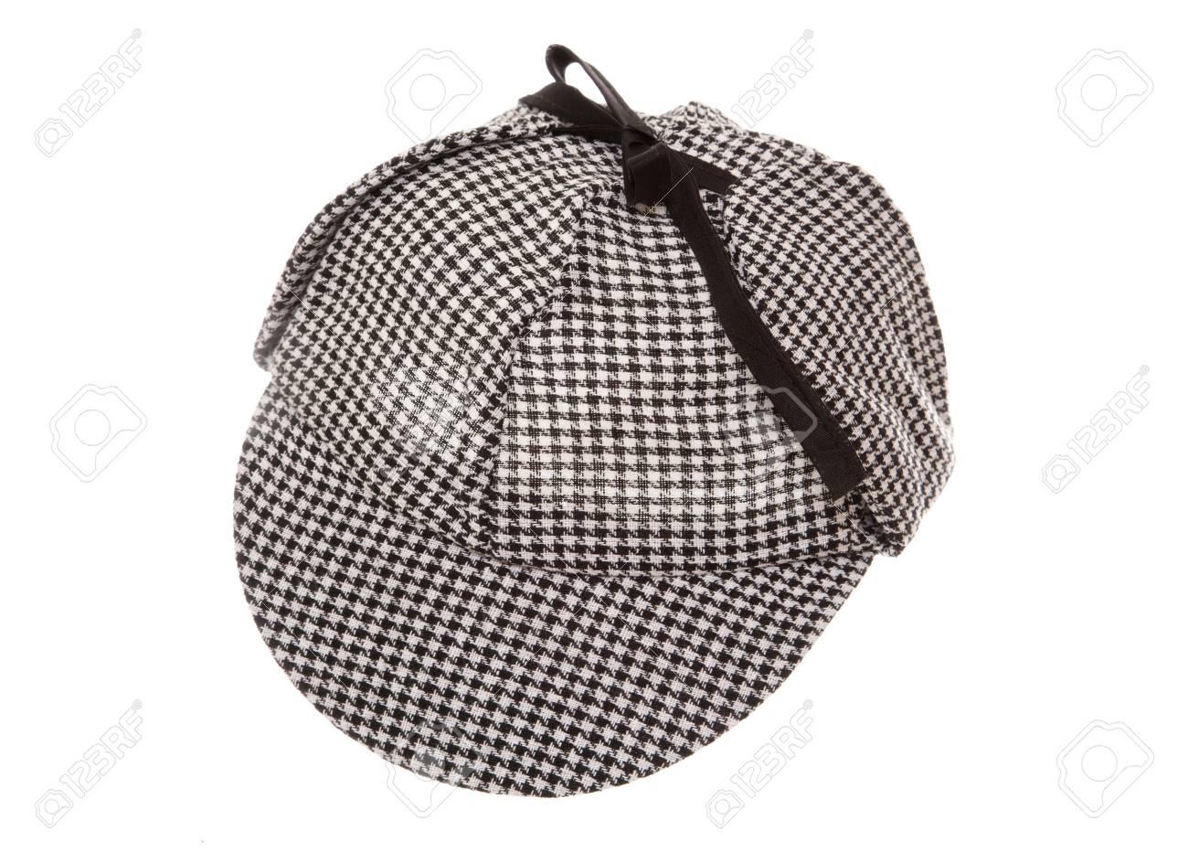 Stock Photo - tweed deerstalker hat studio cutout 7bc578cf978