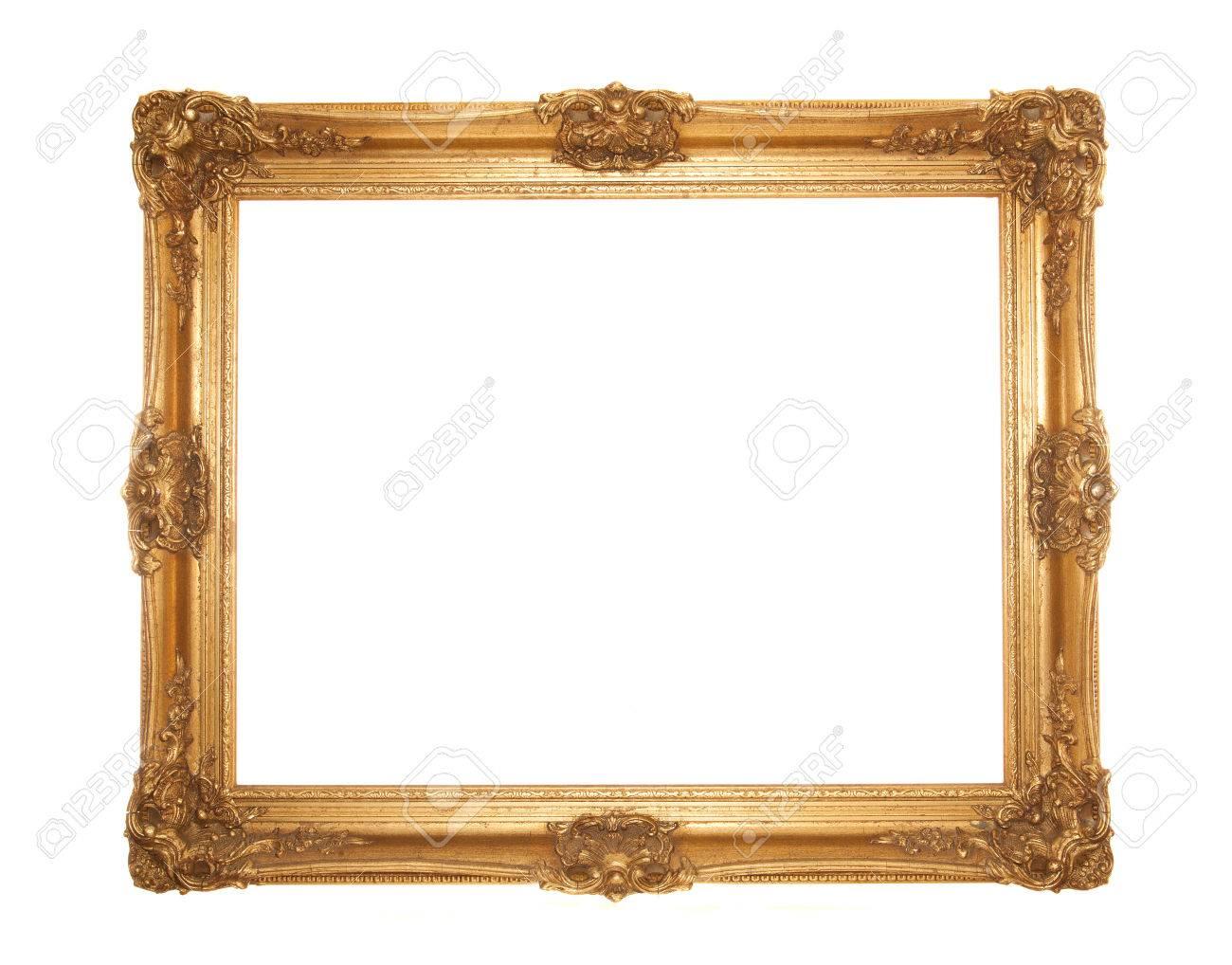Gran Dorado Oro Marco Rococó Adornado Aislado Fotos, Retratos ...