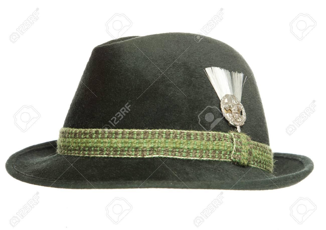 e349767ffeb Green Tyrolean Ocktoberfest Bavarian hat cutout Stock Photo - 39575448
