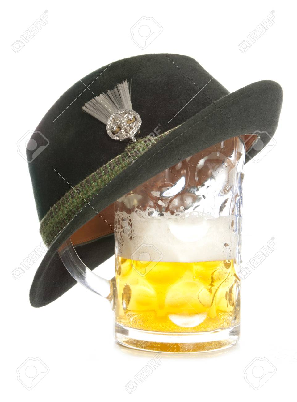 d6265d83736 beer and tryolean hat cutout Stock Photo - 39575452