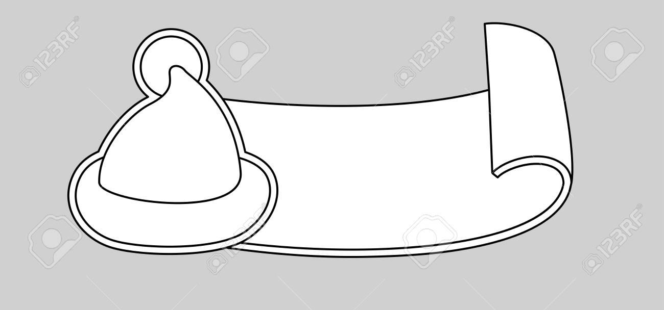 happy new year symbol cartoon santa claus hat in line art stock vector 67523708