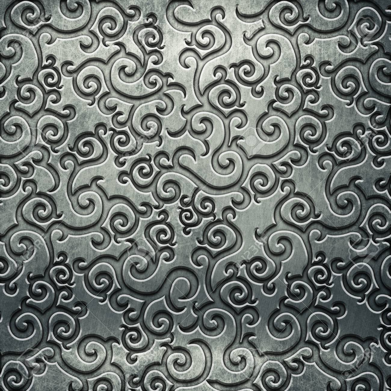 Old Silver Metal Plate With Pattern For Classic Style Art Stock Photo Picture And Royalty Free Image Image 81720255
