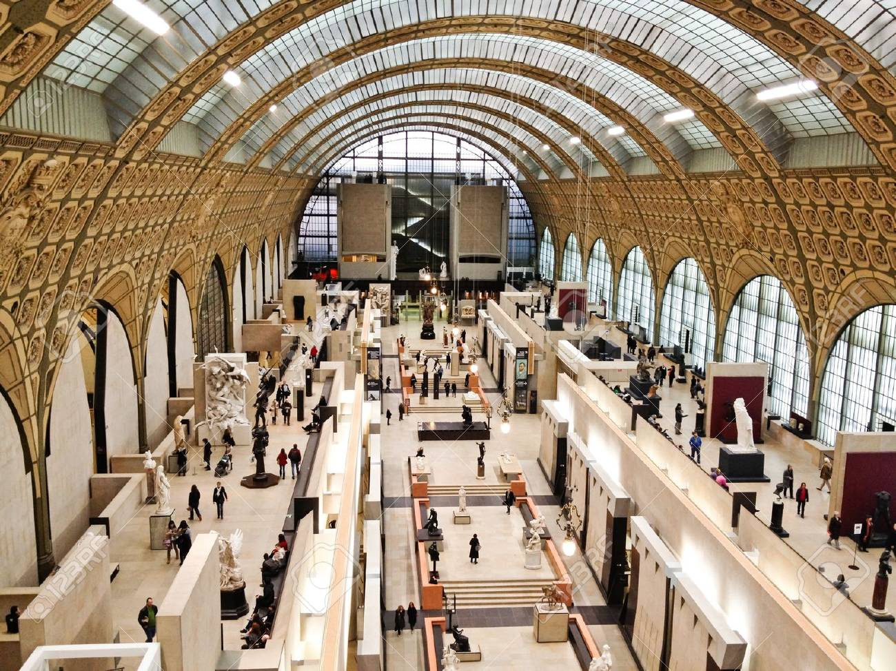 Paris, France - Jan 14, 2012: Paris, France - Image of the interior of the Mus?de Orsay in Paris, France. Stock Photo - 16309754