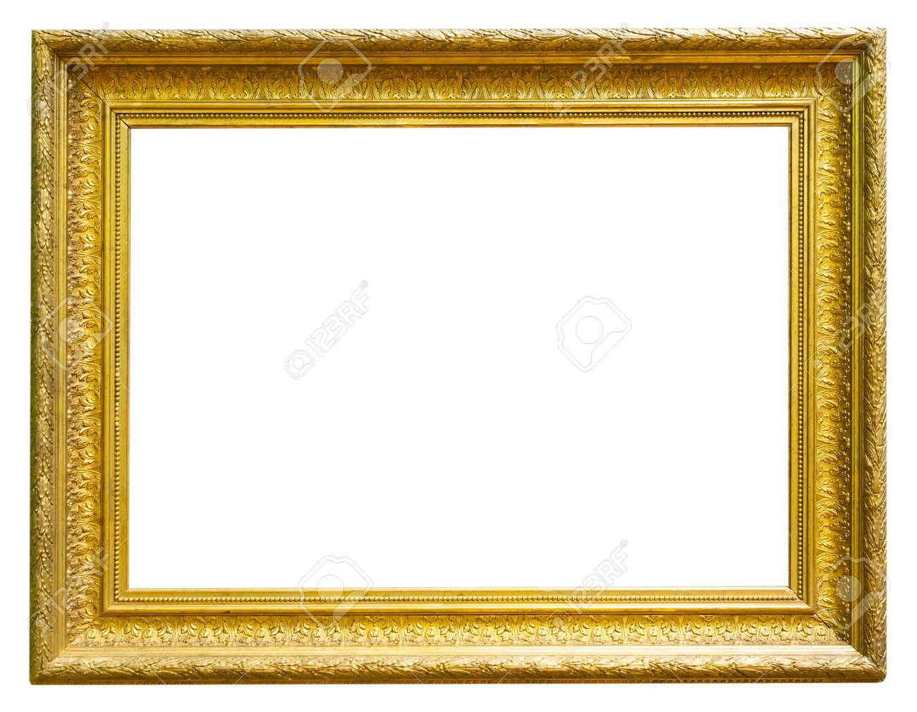 retro golden rectangular frame for photography on isolated background - 168870471