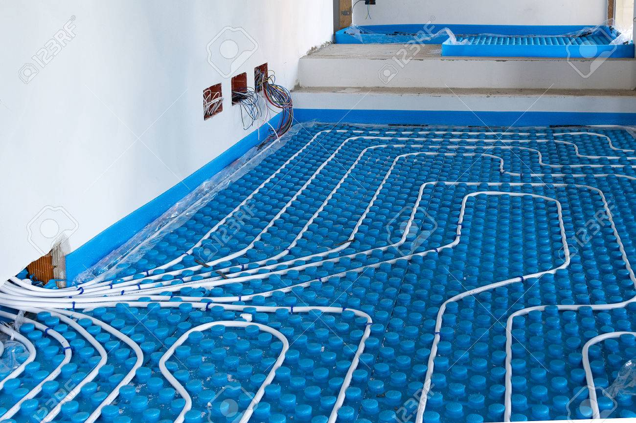 System floor radiant with polyethylene pipes - 50799983