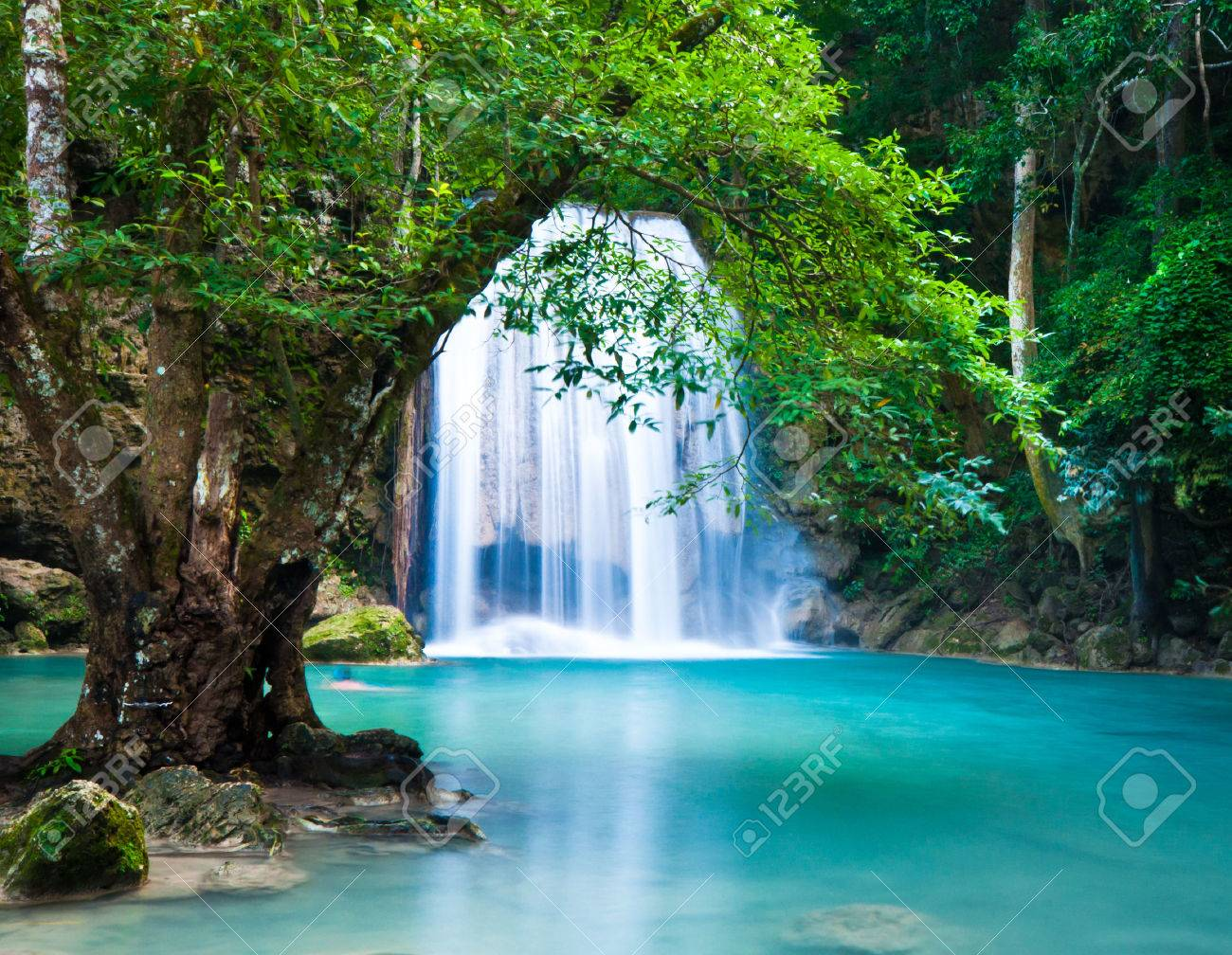 Cliff of Erawan Waterfalls - 27156839