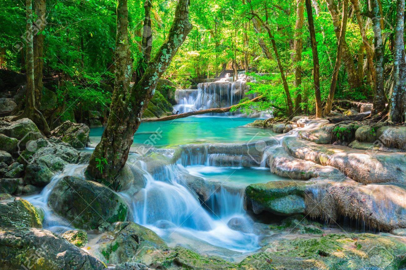 Beautiful waterfall in Thailand jungle - 34128731