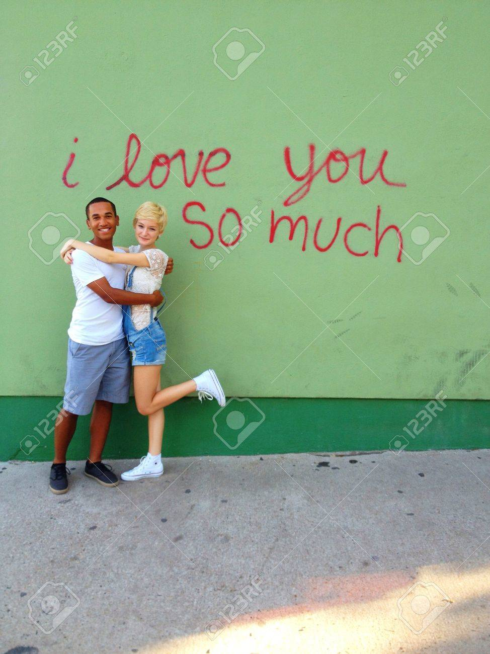 Famous i love you so much graffiti on soco in austin tx stock photo 21370713