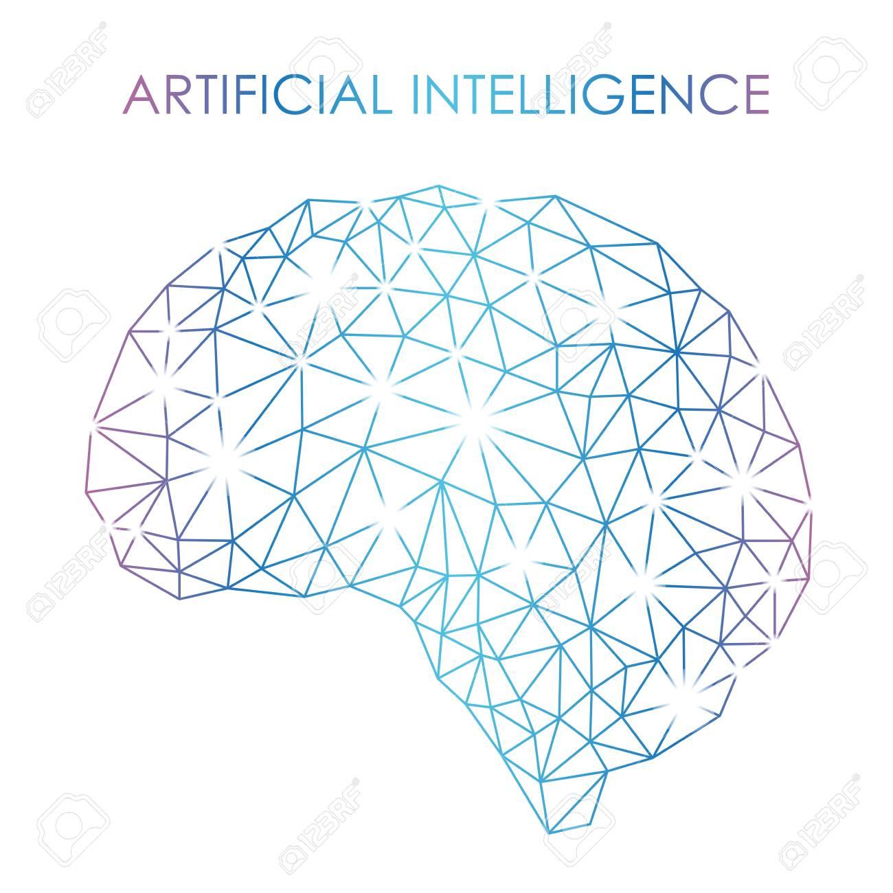 Artificial Intelligence concept, vector illustration. - 95536105