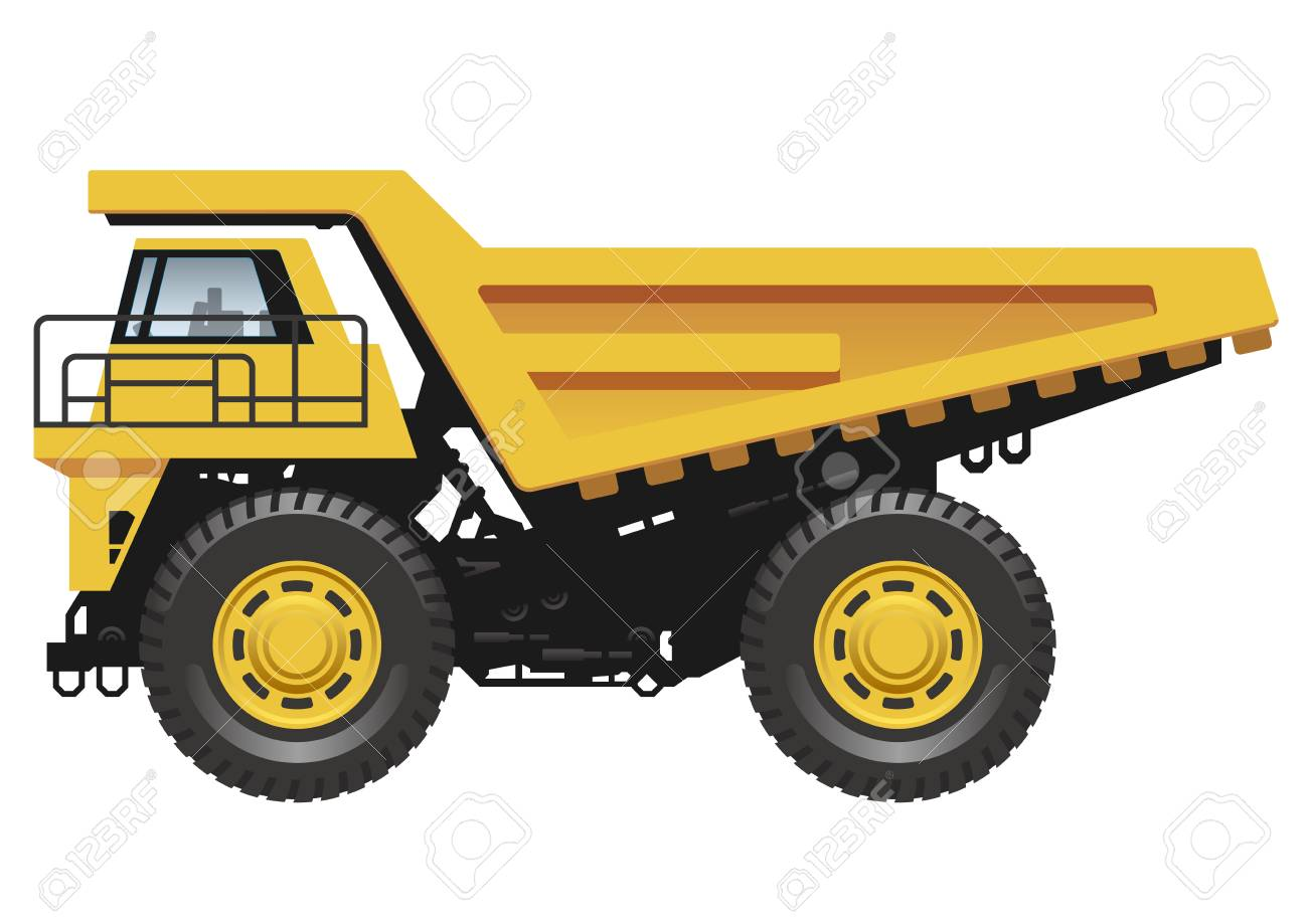 Big Dump Trucks >> Big Dump Truck Isolated On A White Background Vector Illustration