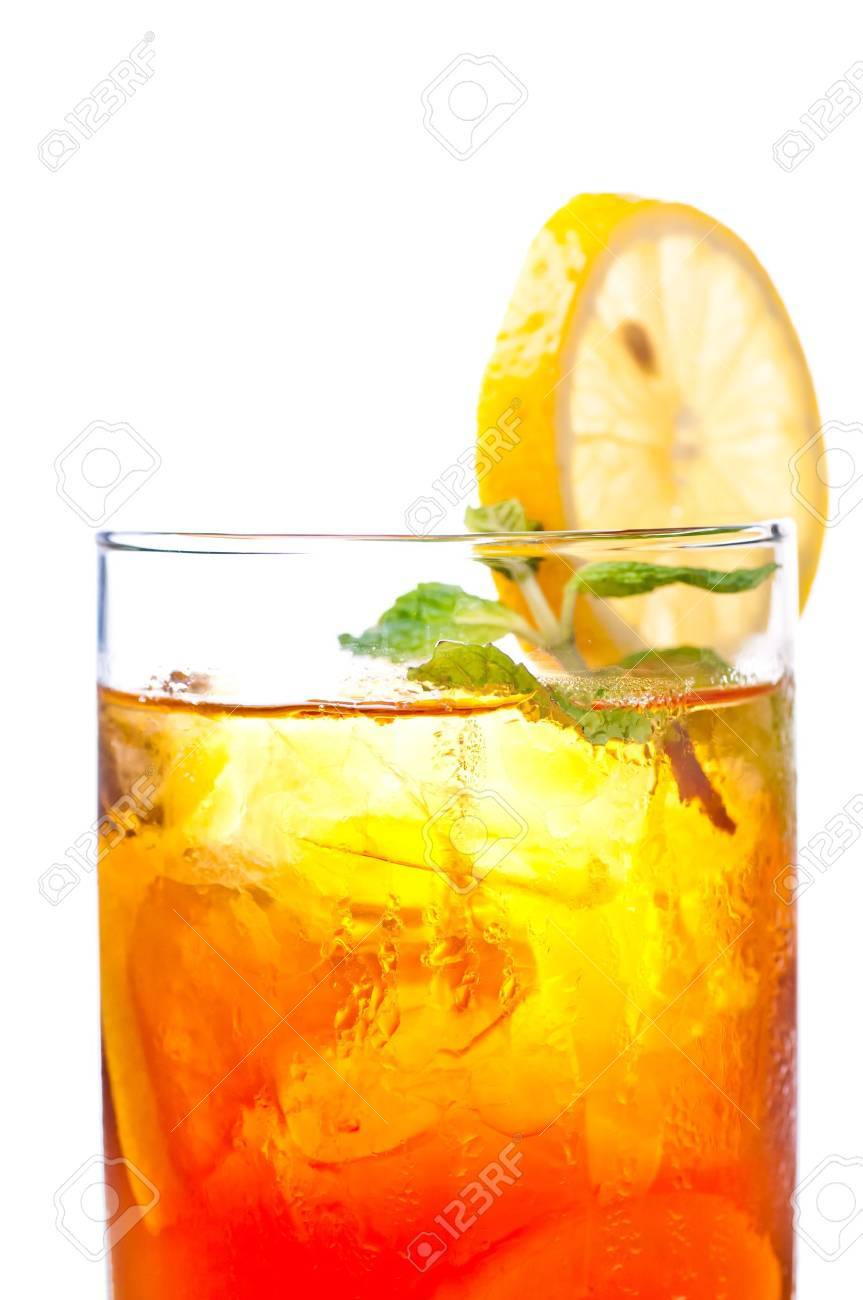 A fresh cool ice lemon tea to be enjoyed anytime of the day Stock Photo - 11080563