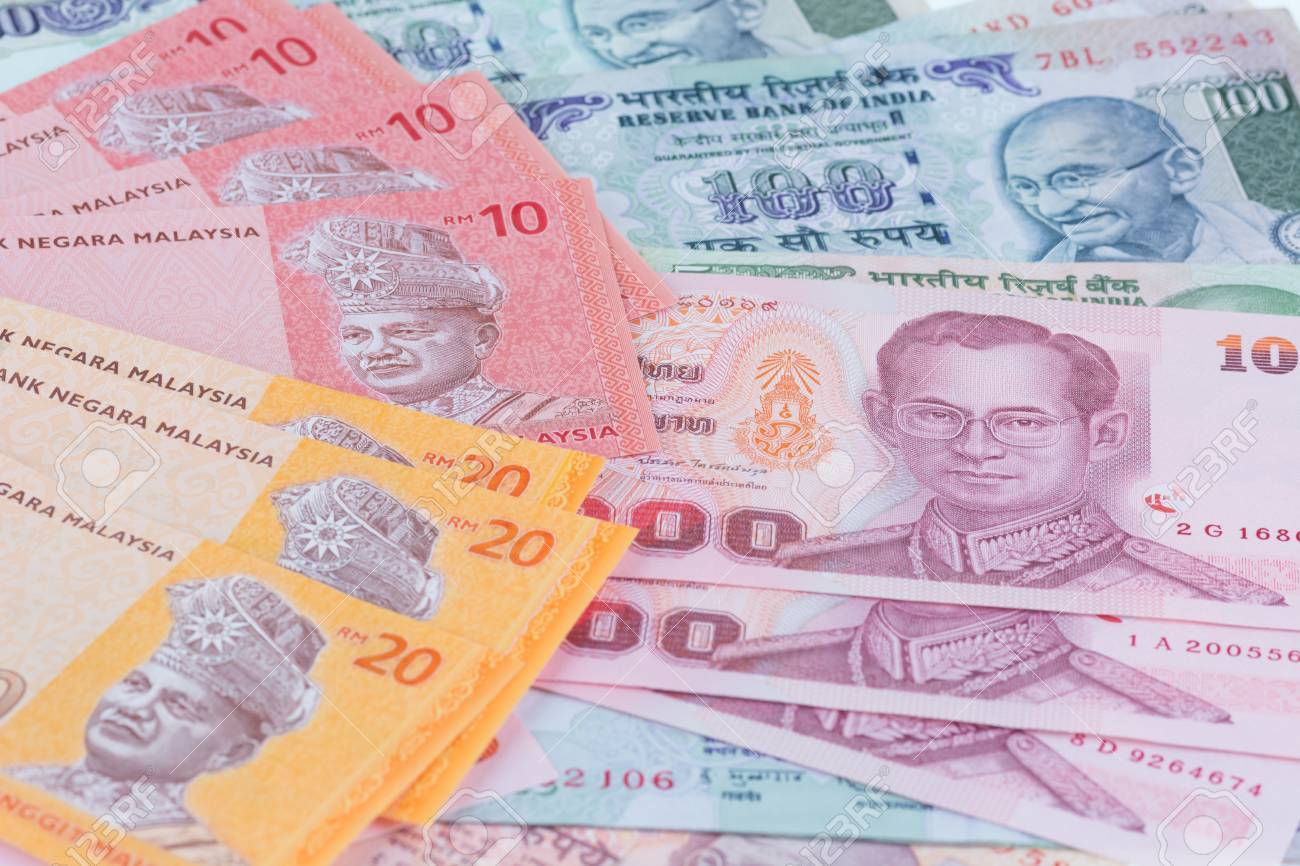 Asian currencies of India, Thailand and Malaysia