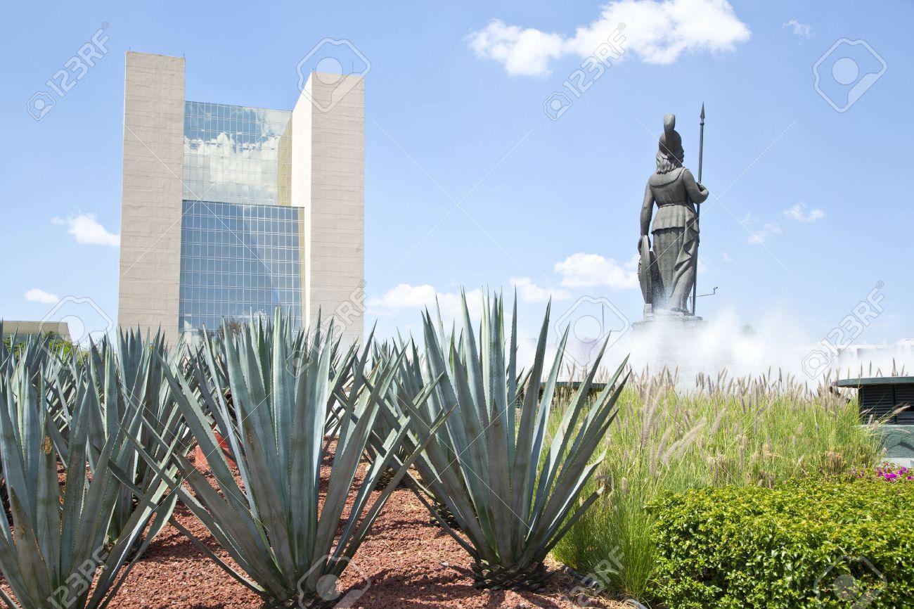 La Minerva Denkmäler Von Guadalajara Jalisco Mexiko Lizenzfreie