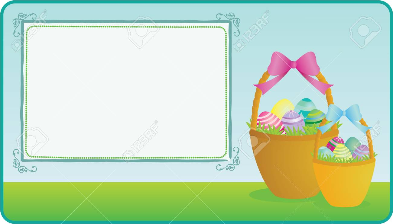Easter basket illustration with copy space Stock Vector - 6652431
