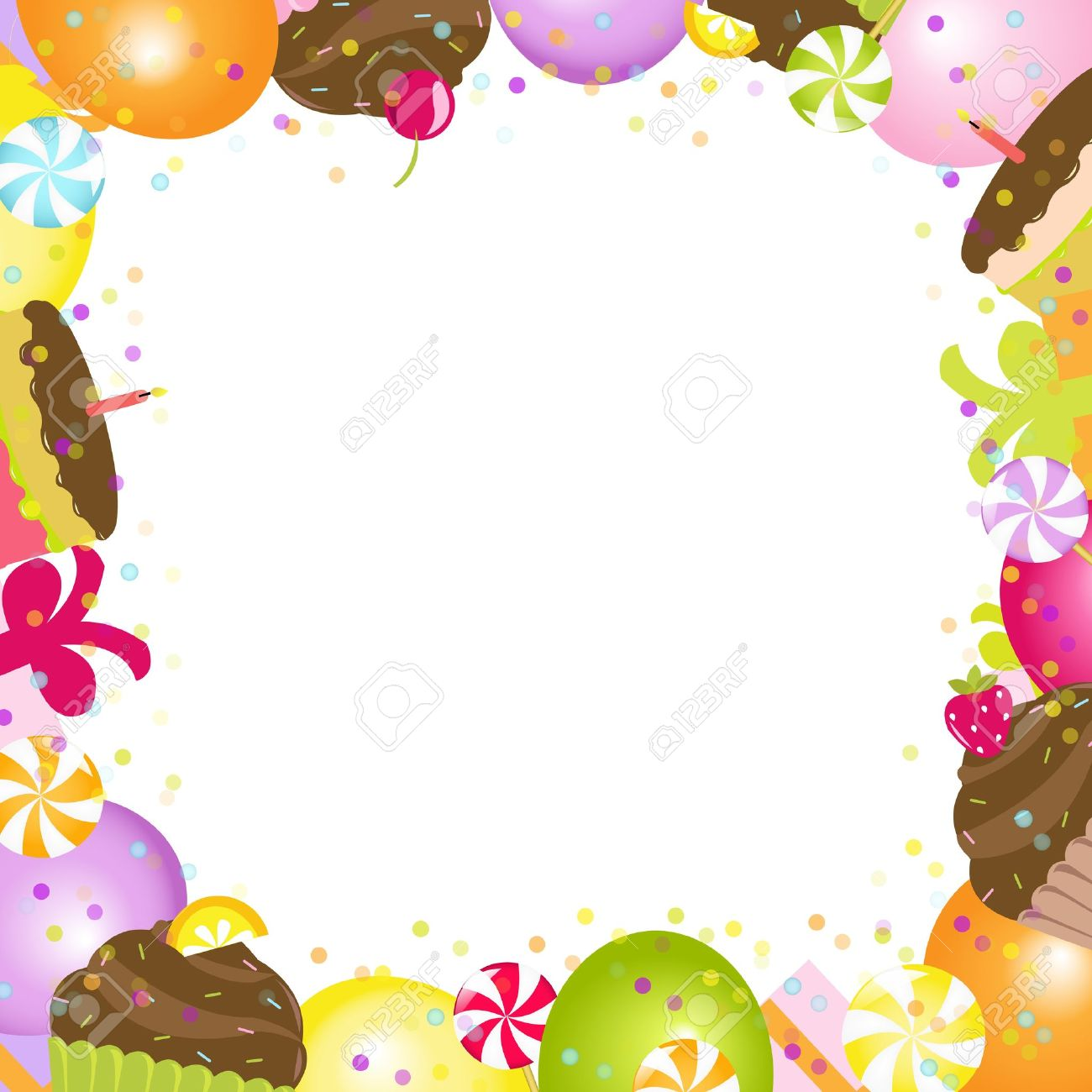 Cadre Anniversaire cadre d'anniversaire, isolé sur fond blanc, vector illustration clip