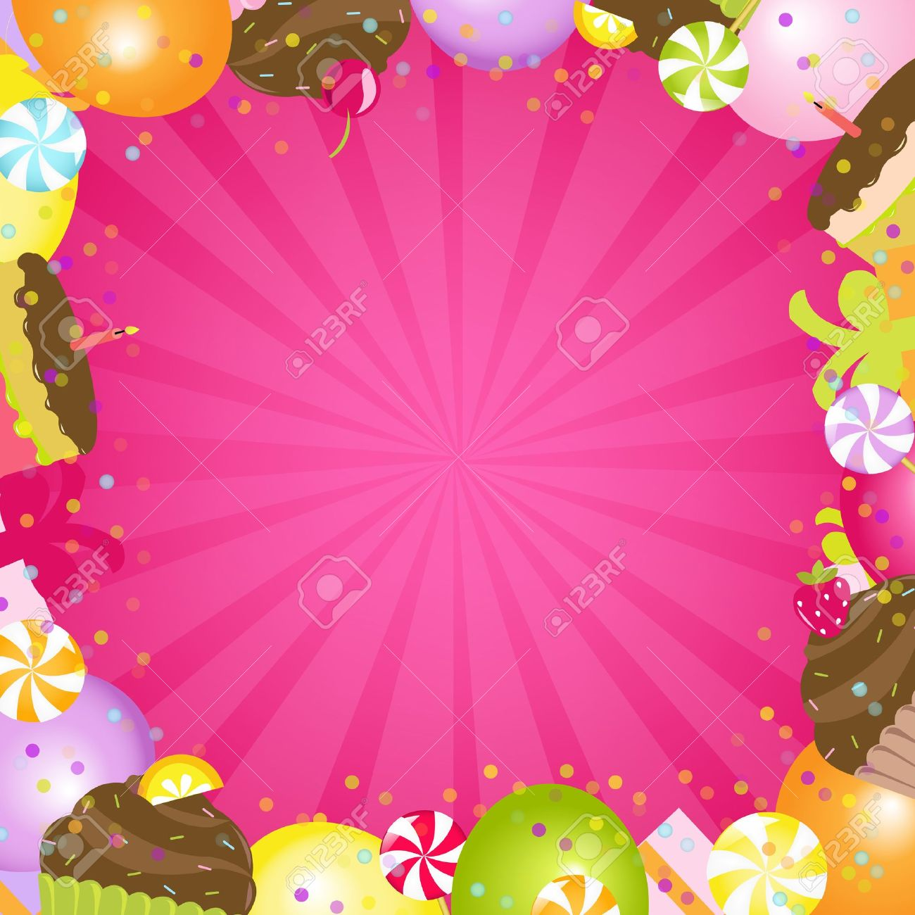 birthday color frame vector illustration royalty free cliparts