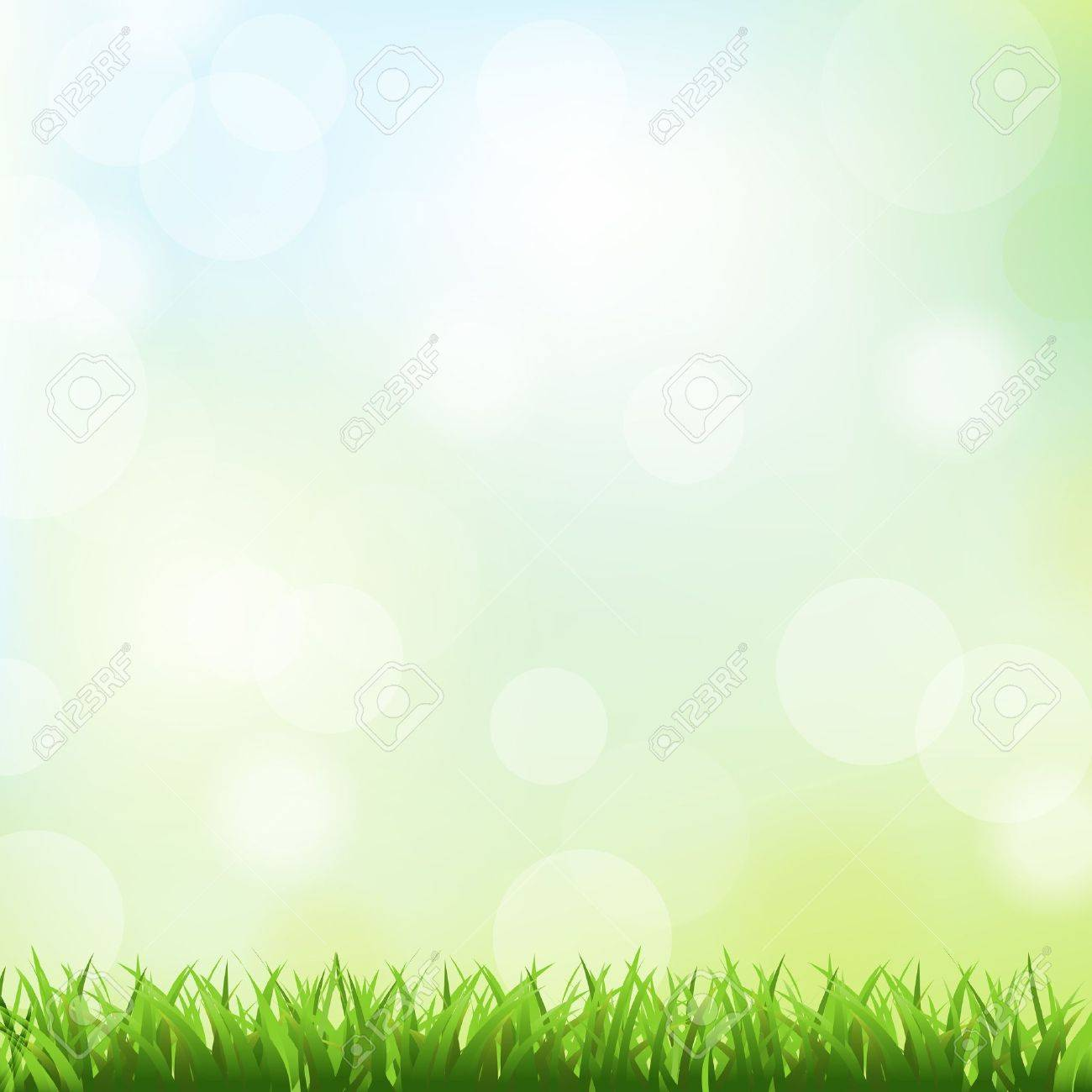 Green Grass And Spring Background,  Vector Illustration Stock Vector - 12285282