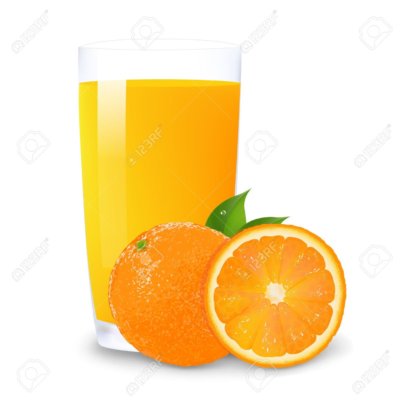 Orange Juice Glass Clipart Juice Glass Orange Juice And