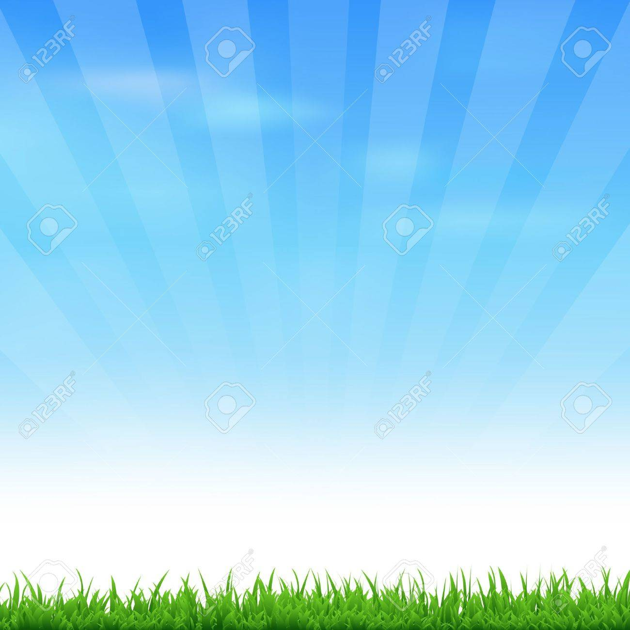 Landscape With Grass And Sky, Vector Illustration Stock Vector - 13762345