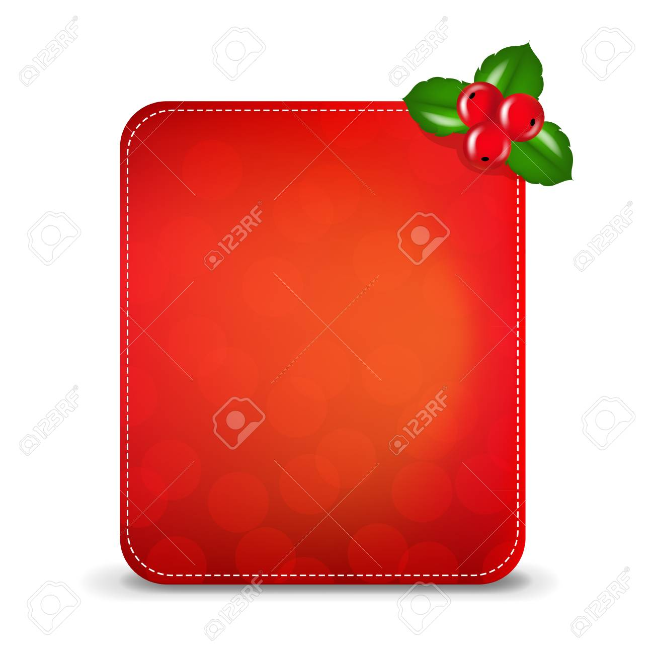 Christmas Banner With Holly Berry,  Illustration Stock Vector - 16448612