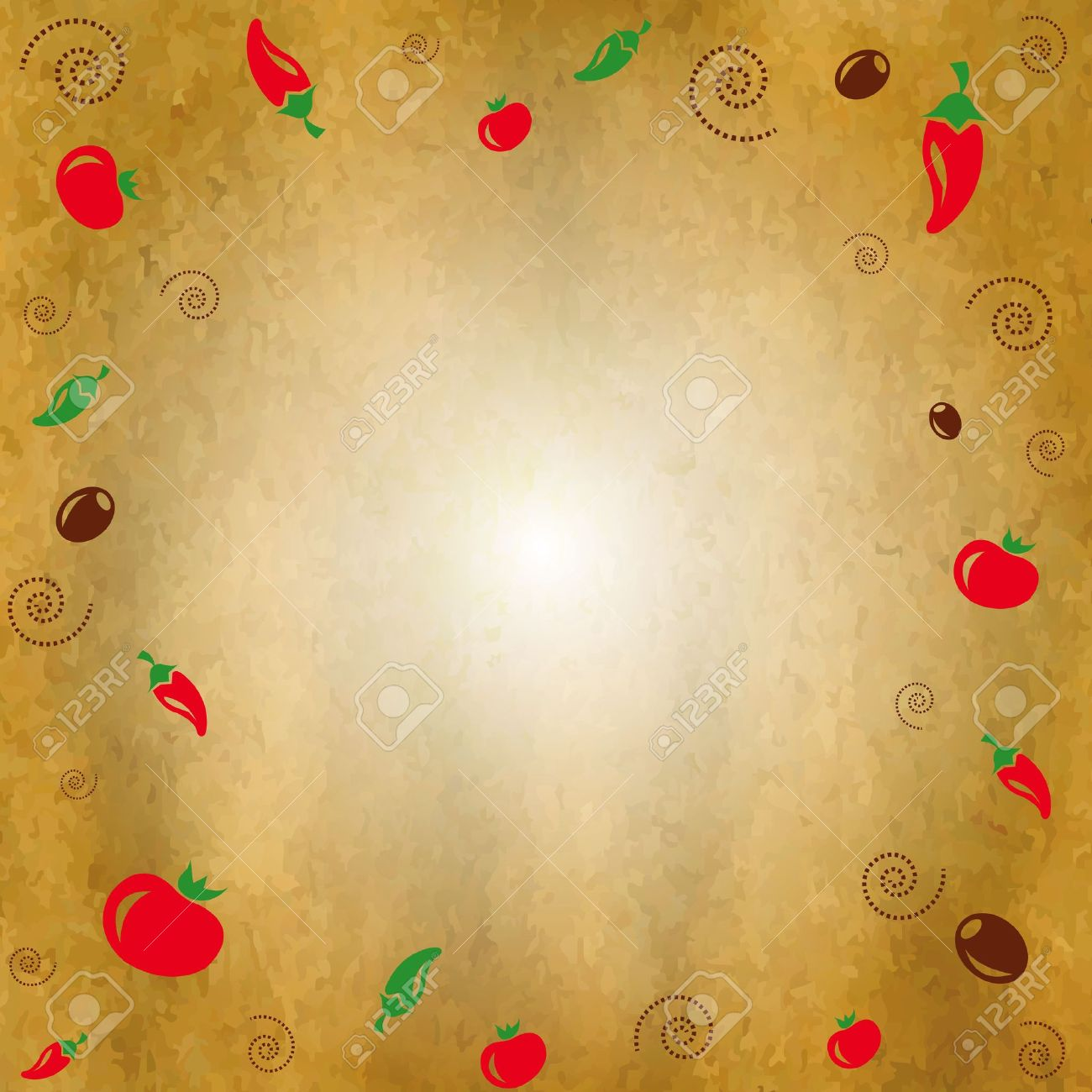 vintage background with icons vegetables, illustration royalty free