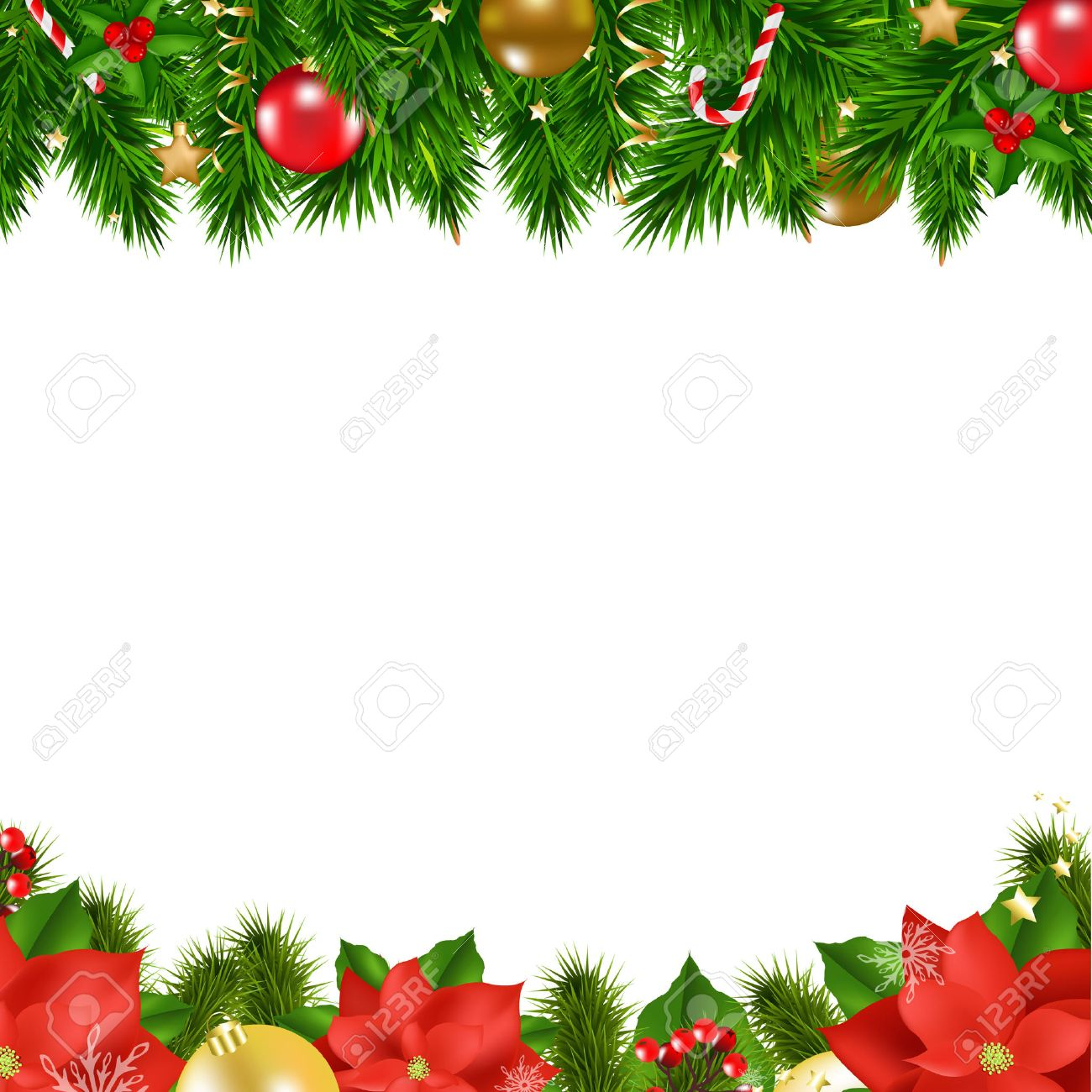 christmas borders with gradient mesh vector illustration stock vector 49422378