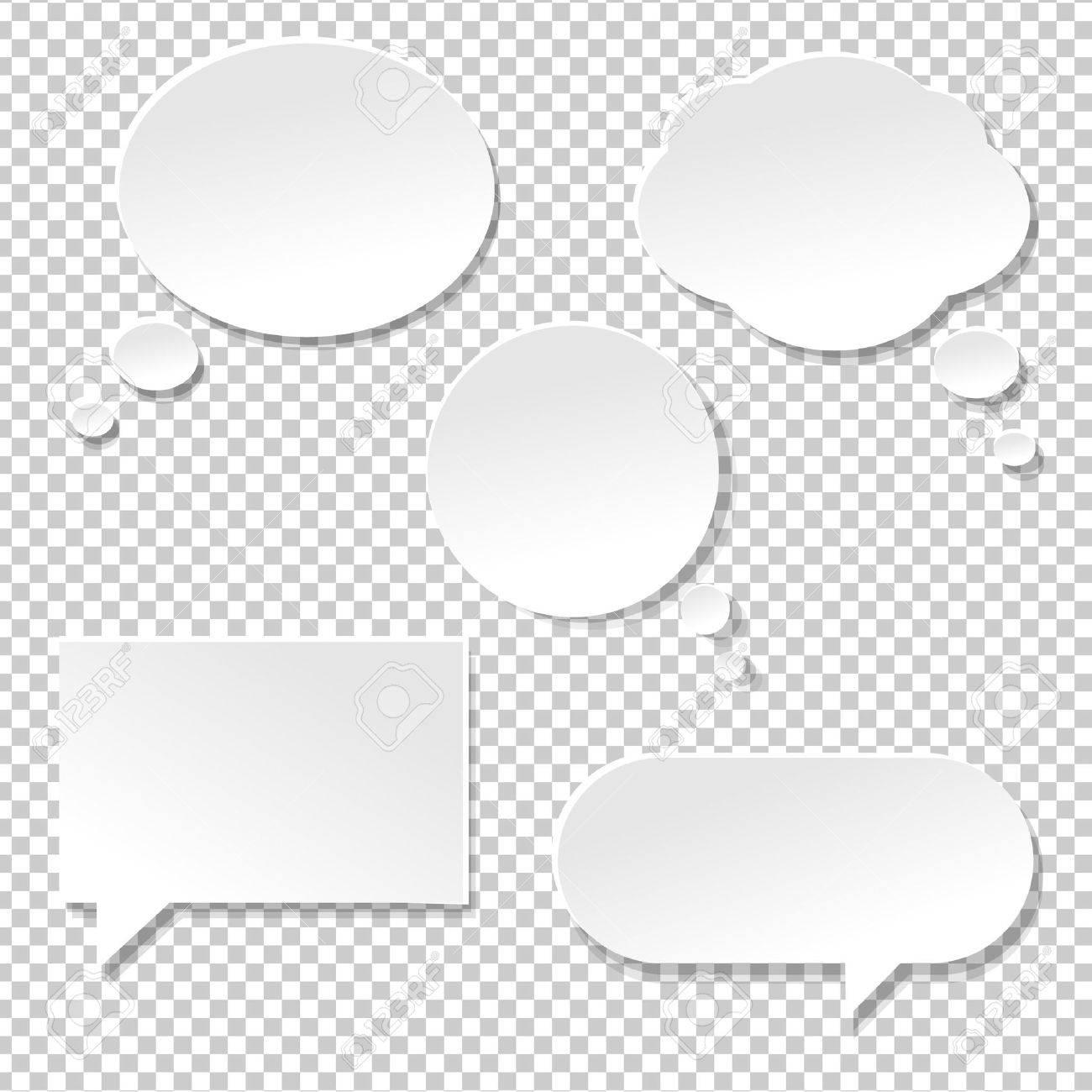 Speech Bubble Big Set, Isolated on Transparent Background, Vector Illustration - 55086608