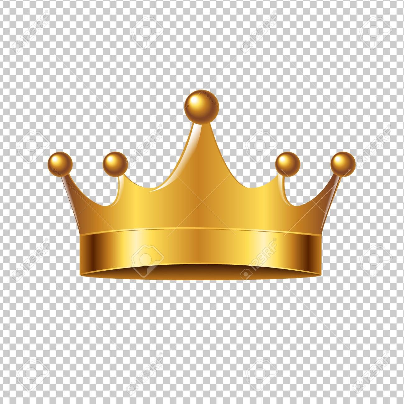 Golden Crown With Gradient Mesh, Vector Illustration - 73802693