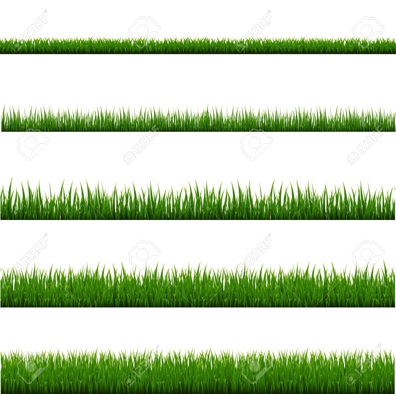 Green Grass Frame Set And Isolated White Background, Vector Illustration - 149609737