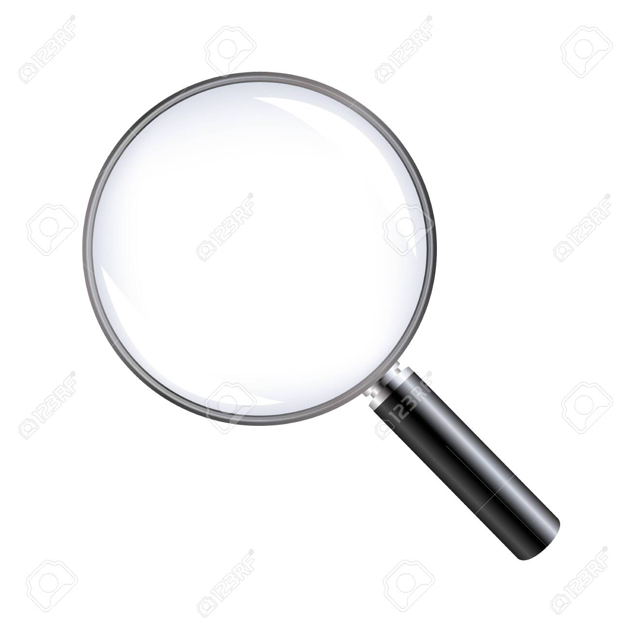 Magnifying Glass With White background - 153637689