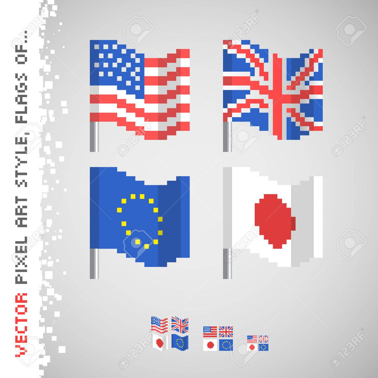 pixel art drapeau