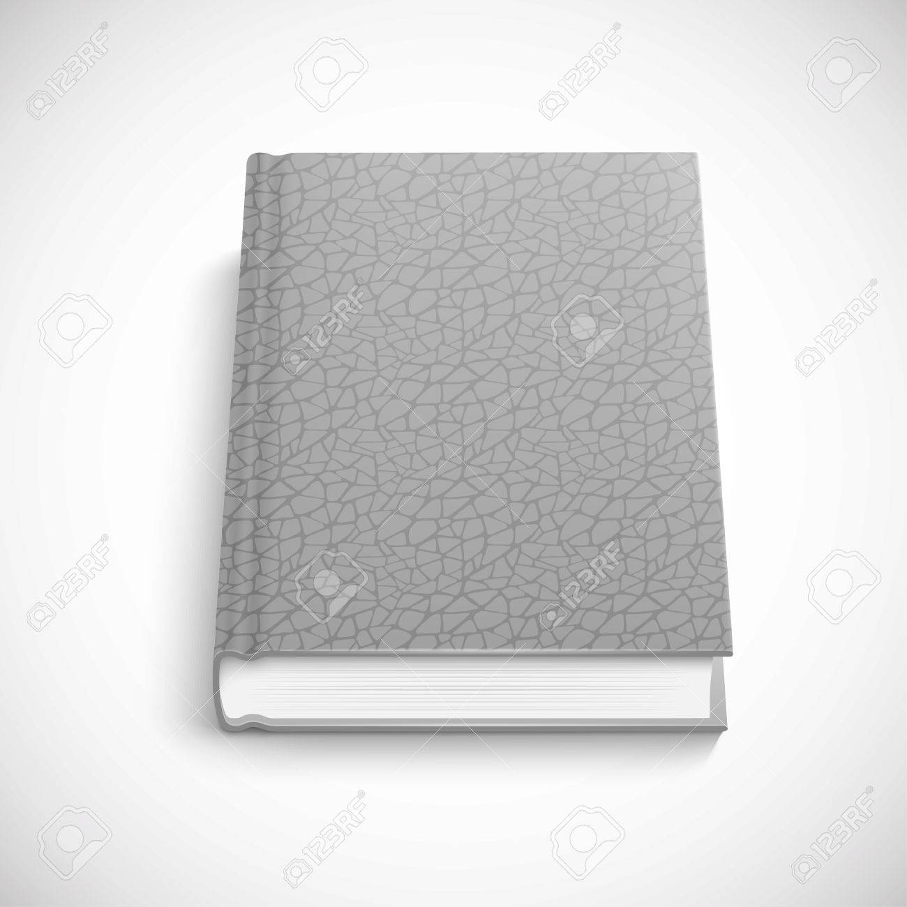 Book Template With Grey Color Lather Hard Cover, Isolated Vector ...
