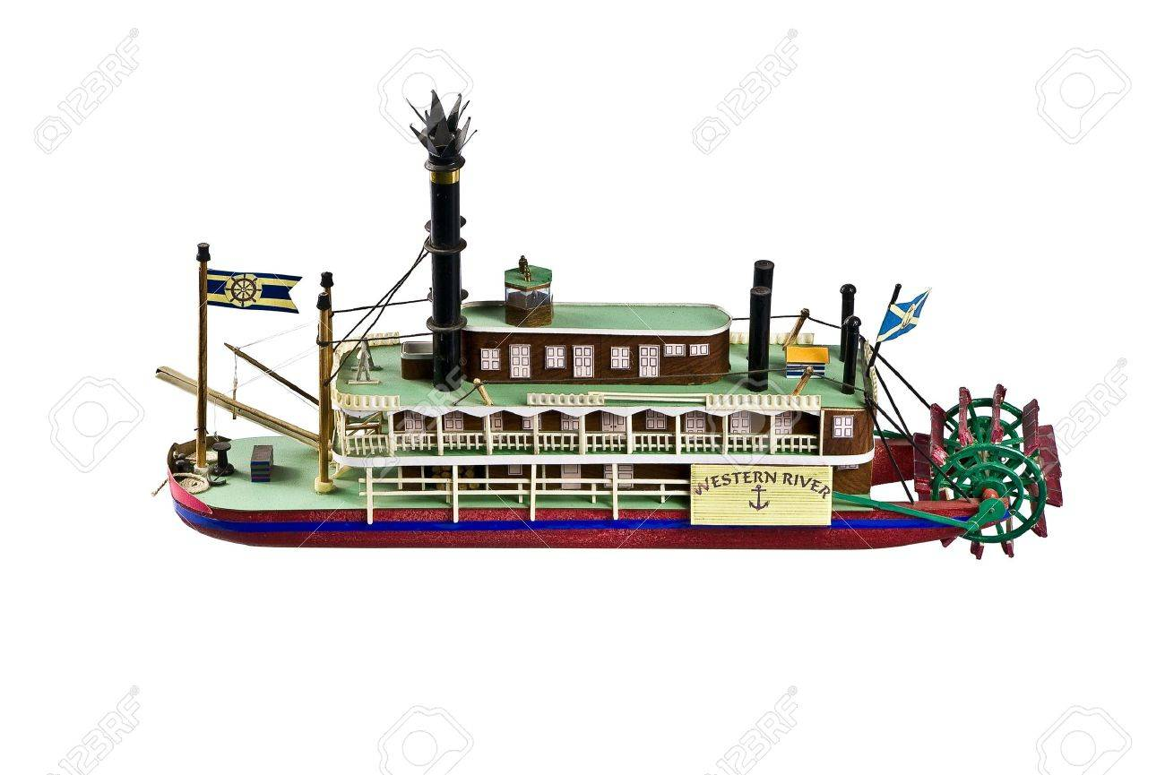 stock photo the model of the paddle boat western river